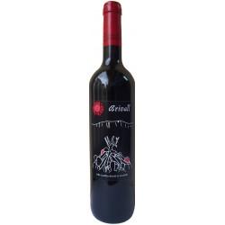 """Ampolla de vi """"Brivall"""", de la Colla Castellera Brivalls de Cornudella"""