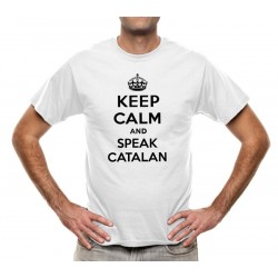Samarreta blanca Keep Calm and speak catalan