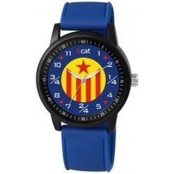 Rellotge home Estelada roja blau marí