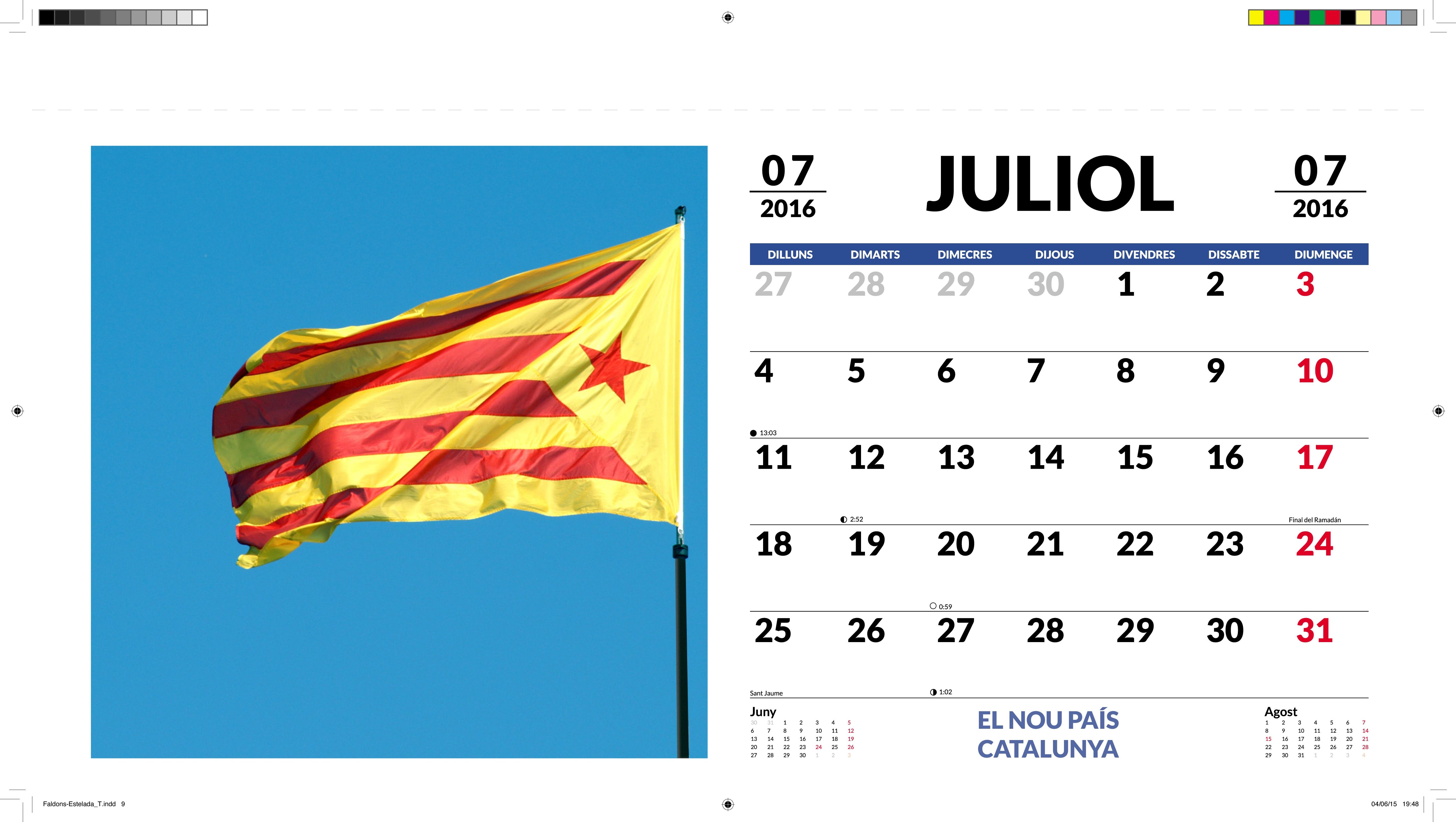 Calendari hol·lograma 3D El nou país Catalunya 2015-2016 ...