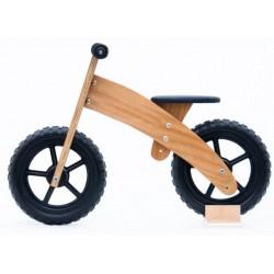 Xicbici Fusta envernissada: Bicicleta de fusta sense pedals