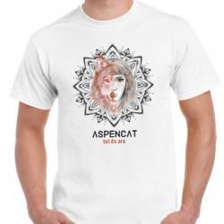 Samarreta unisex Aspencat model Tot és ara blanca