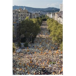 Póster foto commemorativa Diada 2016 a Barcelona