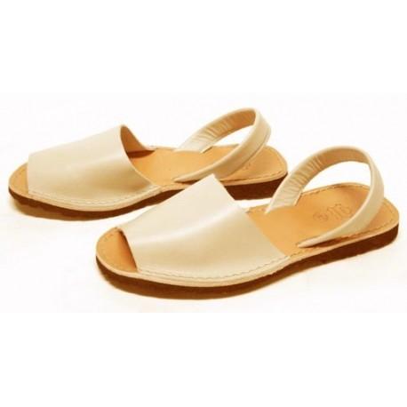 Sandàlies menorquines beix