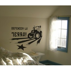 Vinil decoratiu per a paret Tactor-Defensem la Terra!