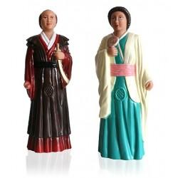Parella de figures de goma reproducció dels gegants japonesos de Reus
