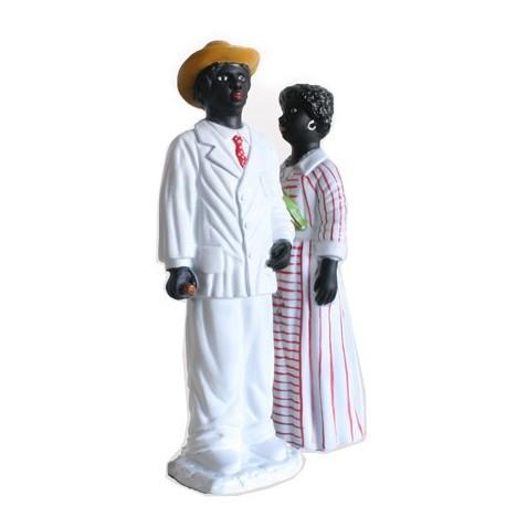 Parella de figures de goma reproducció dels gegants negritos de Tarragona
