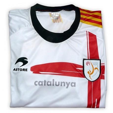 Samarreta oficial Selecció Catalana Futbol Astore blanca (Creu de Sant Jordi)
