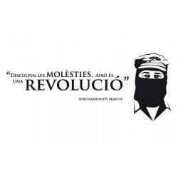 Vinil decoratiu per a paret Disculpeu les molèsties - Marcos
