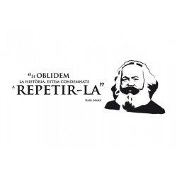 Vinil decoratiu per a paret No oblidem la història - Marx