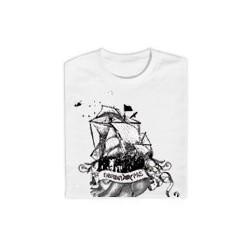 "Samarreta Obrint Pas ""vaixell"" blanc"