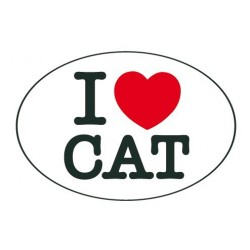 Adhesiu plàstic I love CAT