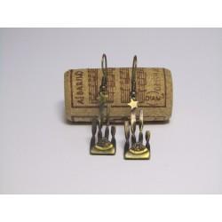 Arracades llargues metall i pàtina oxidada Símbol de la Independència