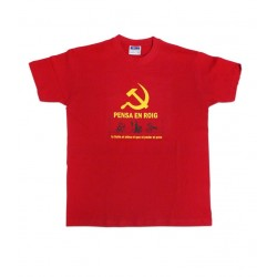 Samarreta Pensa en roig