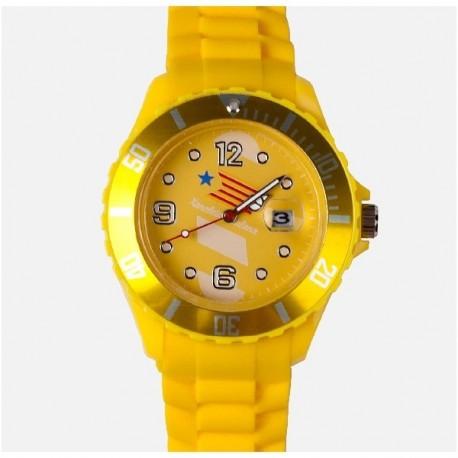 Rellotge Estelada de color groc