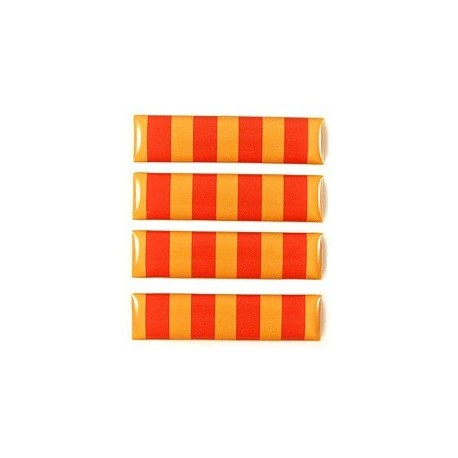 Set de 4 adhesius relleu senyera rectangulars petits