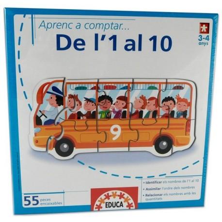 Joc Aprenc a comptar de l'1 al 10 Educa