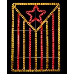 Estelada roja lluminosa - Llums de festa/Nadal