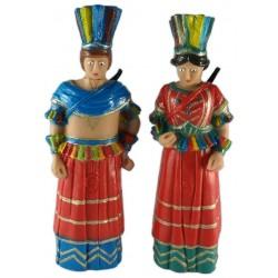 Parella de figures de goma reproducció dels gegants Indis de Reus