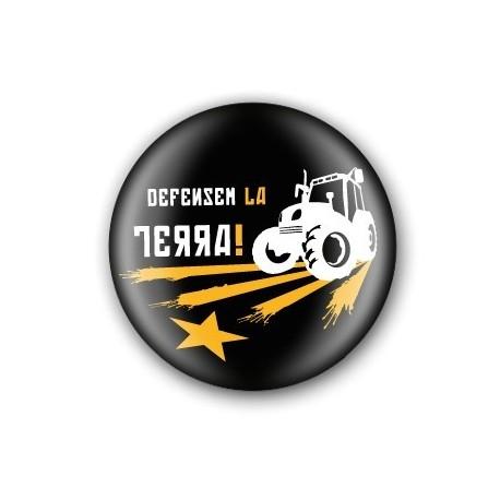 Xapa Defensem la Terra tractor negra