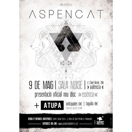 Entrada presentació del nou disc essència d'Aspencat a VALÈNCIA