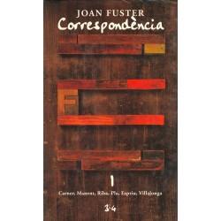 Llibre Correspondència Joan Fuster 1: CARNER, MANENT, RIBA, PLA, ESPRIU, VILLALONGA