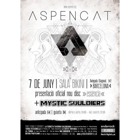 Entrada presentació del nou disc essència d'Aspencat a BARCELONA