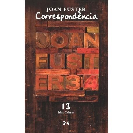 Llibre Correspondència Joan Fuster 13: MAX CAHNER