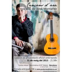 Entrada presentació nou CD del cantautor Jordi Montañez a Gràcia