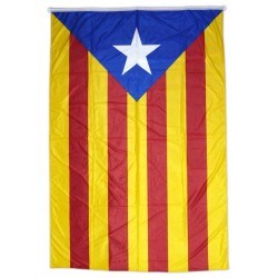 Bandera estelada blava estampada tipus màstil