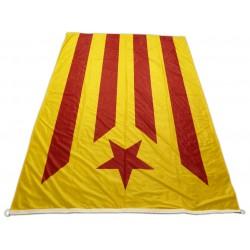 Bandera estelada roja estampada tipus màstil