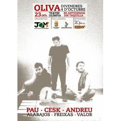 Entrada Concert a Oliva 4 d'octubre