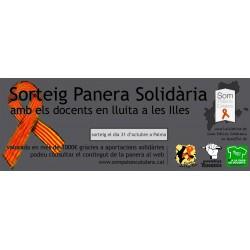 Butlleta per al sorteig de la panera solidària amb els docents de les Illes