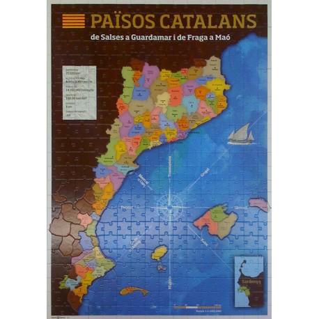 Trencaclosques puzzle mapa dels Països Catalans