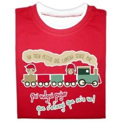 Samarreta bicolor màniga llarga Un tren petitó