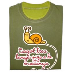 Samarreta bicolor màniga llarga Caragol treu banya
