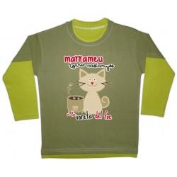 Samarreta bicolor màniga llarga Marrameu torracastanyes