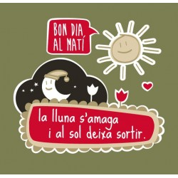 Samarreta bicolor màniga llarga Bon dia