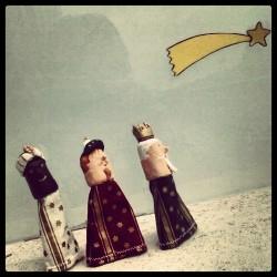 ninots de dit Els reis mags i el tió