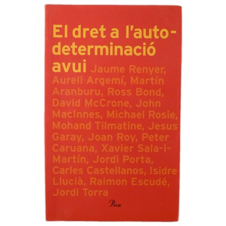 Llibre El dret a l'autodeterminació avui