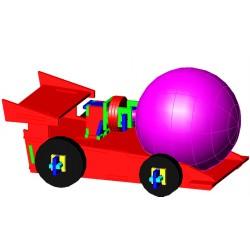 Joc Mini-Capsa Cotxe eòlic. Conte+maqueta