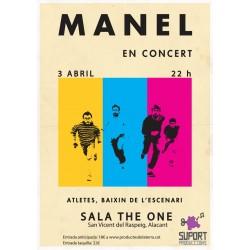 Entrada concert Manel Sant Vicent del Raspeig (Alacant)
