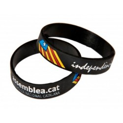 Polsera silicona negre Assemblea Nacional Catalana