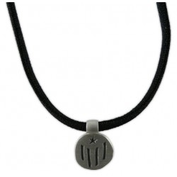 Braçalet-collar negre i estelada plata