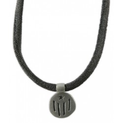 Braçalet/collar gris i estelada plata
