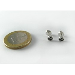 Arracades plata estelada rodona petita