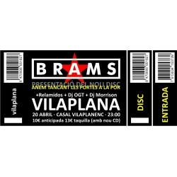 Entrada concert Brams a Vilaplana