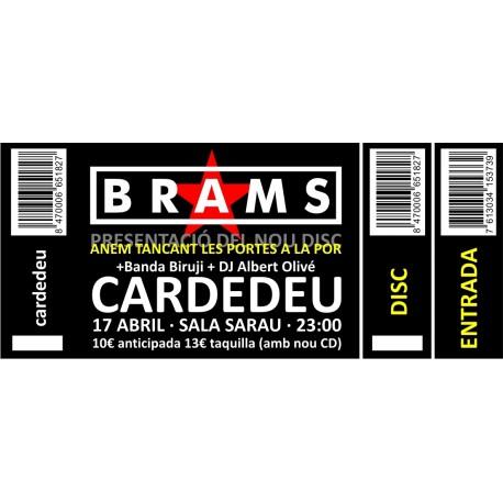 Entrada concert Brams a Cardedeu