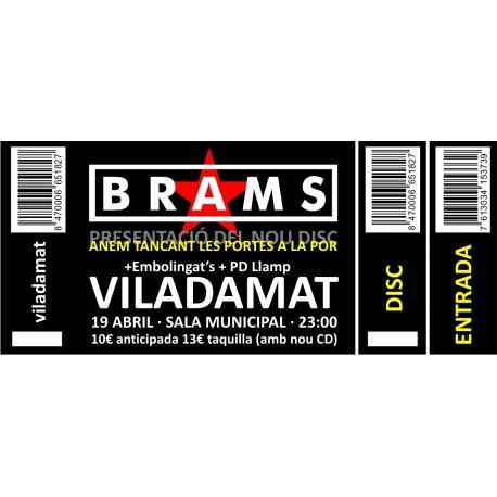 Entrada concert Brams a Viladamat