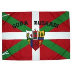 Bandera basca (Ikurriña) Gora Euskadi i escut